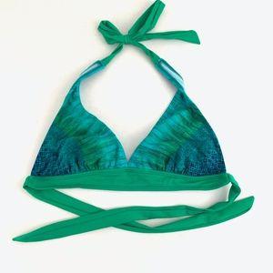 Athleta Rio Vista Bikini Top Triangle Green Small
